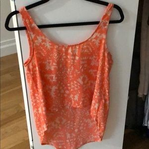 High-low Coral Tank Top